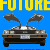 Back To The Future Movie Poster Paper or Plexiglas by FunnyFaceArt