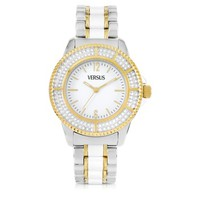 Versace Versus Designer Women's Watches Tokyo Crystal 38 White and Gold Stainless Steel Women's Watch