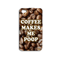 Coffee iPhone Case Cute Coffee Bean Quote Phone Case Funny iPod Case iPhone 4 Cover iPhone 5 iPhone 5s iPhone 4s iPod 4 Case iPod 5 Case