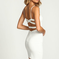 IVORY ALL WRAPPED UP BODYCON DRESS