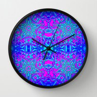 Bright Cool Stars Wall Clock by 2sweet4words Designs | Society6