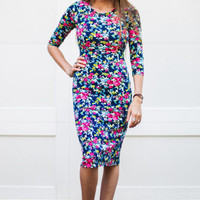 Can't Go Wrong Floral Bodycon Dress
