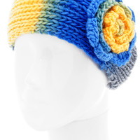 Ombre Rose Knitted Headband