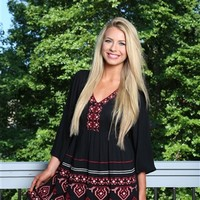 The You Spin Me Round Dress is perfect for the Southern Fried Boho Chic in you! It is Black in color, features a maroon and cream cross stitch pattern at the neckline and bottom of the dress. It has a V neckline and 3/4 bell sleeves.