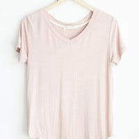 Heather V-Neck Tee