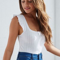 Me To We Ruffled Sleeve Top at PacSun.com