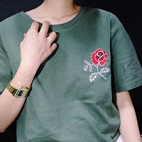 Green Rose T-Shirt