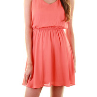 Solid Dress - Coral