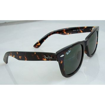 Authentic Ray Ban TORTOISE Wayfarer Sunglasses RB2140/9024 with case NEW