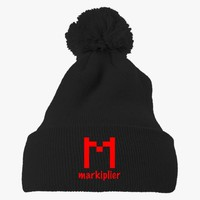 Markiplier Logo Embroidered Knit Pom Cap