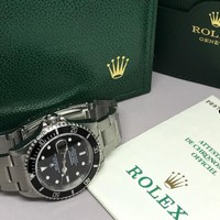 Rolex 16610 Submariner Stainless Steel SEL Unpolished Case P Series Box Papers