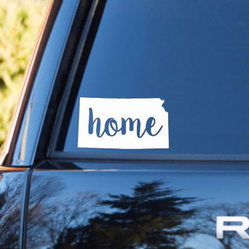 PICK COLOR and SIZE Ks Decal Kansas Car Decal Kansas sticker Kansas Home Decal Kansas Decal Kansas car sticker
