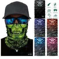 3D Magic Mask Hiking Scarf Neck Warmer Fishing Cycling bicycle scarf headwear  bandana  Tube Hunting mask headband for men