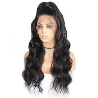 Human Hair 360 Lace Frontal Wigs Brazilian Body Pre Plucked With Baby Hair Remy Lace