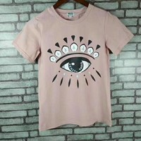"""""""Kenzo""""  Woman Fashion Casual Short-Sleeved Couple Printed Round Neck   Top"""