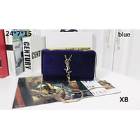 YSL Yves Saint Laurent Counter Women's Fashionable Chain Bag F-LLBPFSH Blue