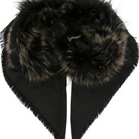Fendi Raccoon Fur Trim Ff Logo Scarf - Eraldo - Farfetch.com