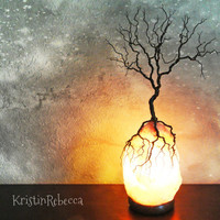 Tree of Life Twisted Wire Sculpture Himalayan Salt Lamp Tree Lamp Lighted Tree Sculpture
