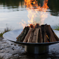 rockaway stainless fire pit exclusive artisan fire pit by Rick Wittrig | thos. baker