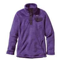 Patagonia Girls' Re-Tool Snap-T® Fleece Pullover   Violetti - Tempest Purple X-Dye