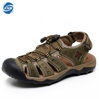 Summer Breathable Hiking Sandals Men Outdoor Sport Genuine Leather Sneakers Beach Shoes For Men Outdoor Beach Shoes