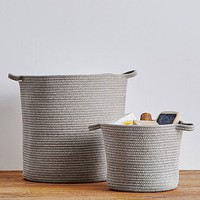 Heather Gray Sloan Cotton Rope Storage