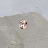 Cushion Peach Champagne Sapphire 1.5cts for 14k Rose Gold White Gold or Yellow Gold Engagement Ring Weddings Anniversary