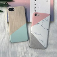 Lizardhill Phone Cases For iphone 6 6S Plus Case Marble Geometric Splice Covers for Apple iphone 7 plus coque for iphone 8 plus