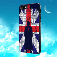 Tardis Union Jack David Tennant for iPhone, Samsung Galaxy and iPod cases