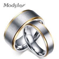 18K gold stainless steel his and her promise ring the couple wedding rings for women and men