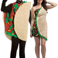 taco couples costume for adults | one-size