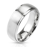 Personalize Stainless Steel Ring, Custom Mens Stainless Steel Ring, Stainless Steel Band,  R-M2462