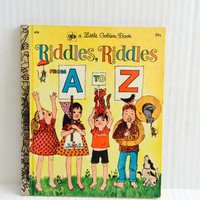 Riddles Riddles From A To Z - Vintage Little Golden Book - 1971
