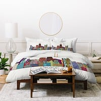 Brian Buckley Chicago City Duvet Cover