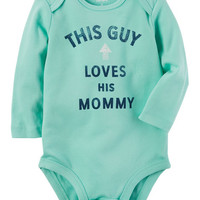 This Guy Loves His Mommy Collectible Bodysuit