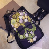 Stylish Fashion Face Mask Skull Backpack Casual Travel Bags [6582650631]