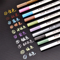 1 Piece Hot Sale School Stationery Marker Pens High Quality Permanent Markers Colorful Paint Marker Pen School Supplies