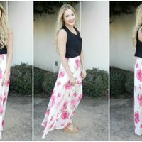 Fancy in Floral Maxi Skirt
