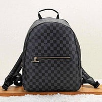 Louis Vuitton Fashion New Monogram Check Women Men Travel Backpack Bag