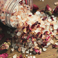 CELESTIAL ROSE . Bath Salt Soak. Luxury Bath - Vegan Rose Himalayan Salt + Dead Sea Salt Soak. Spa & Relaxation Gift // Celestial Rose