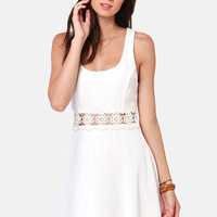 I Mid You Not Ivory Lace Dress