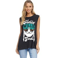 Feelin' Willie Good Graphic Top - Black