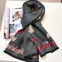 """FENDI"" Trending Women Men Stylish Comfortable Warmer Cashmere Cape Scarf Scarves Shawl Accessories"