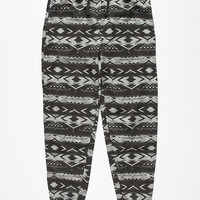 Brooklyn Cloth Ombre Tribal Stripe Mens Jogger Pants Black/Grey  In Sizes