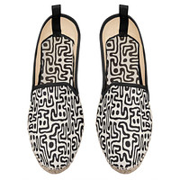 Hand Drawn LabyrinthLoafer Espadrilles by The Photo Access