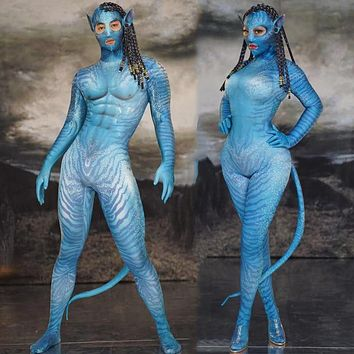 3D Jumpsuit Mask Man Female Cosplay Costumes Halloween Party Role Performance Stage Costume Bar Party Show Dance Tights DT1609
