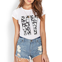 FOREVER 21 No-Fuss Distressed Cutoffs