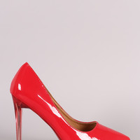 Patent Pointy Toe Lucite Stiletto Pump