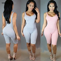 Women Summer Bodysuit Rompers Womens Jumpsuit 2016 Sexy Backless Sleeveless Playsuit Bodycon Bandage Jumpsuits Overalls