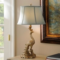 Peacock Table Lamp | Kirklands